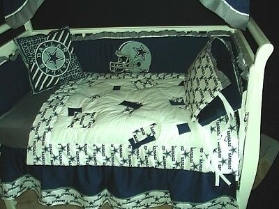 Custom Made Baby Crib Nursery Bedding Set M W Dallas Cowboys Nfl Fabric
