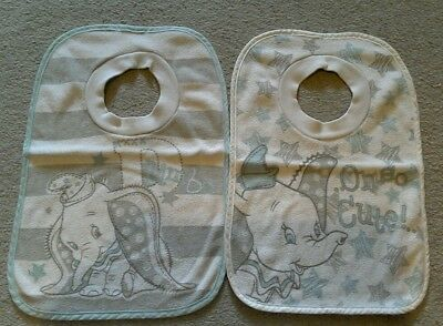 2 Disney Dumbo baby bibs, over head fastening