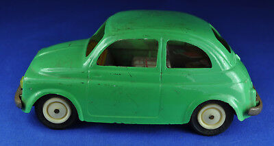 Blechauto / tin car: Ingap Fiat 500, 1950-1960-er / -ies, grün / green, Friktion