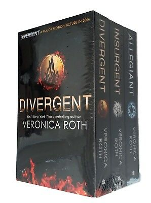 Divergent Trilogy Veronica Roth Box Set 3 Books Allegiant Insurgent SF New