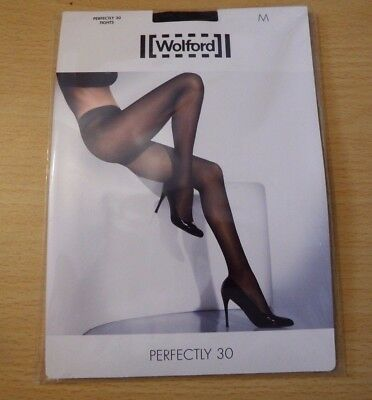 Wolford Perfectly 30 Black Tights Size Medium