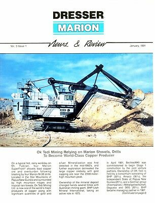 Jan 1991 Marion Shovel Dresser News and Reviews Magazine Tedi Mining 204-M