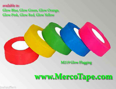 Plastic GLOW YELLOW Flagging Tape - half case of 72 rolls! - Merco Tape M219