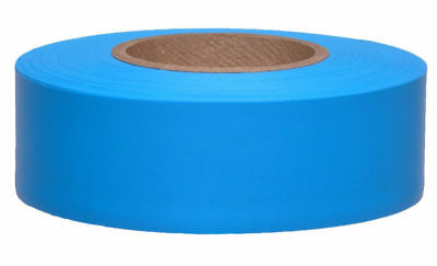 Plastic GLOW BLUE Flagging Tape - full case of 144 rolls! - Merco Tape M219