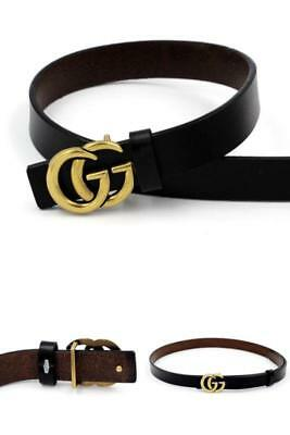 "Womens Genuine Leather Thin Belts For Jeans 0.9 Belt For Women's Pants ""GG"" New"
