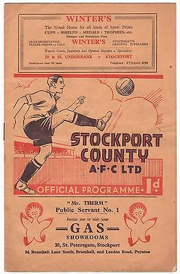 Stockport V Lincoln 1936/37