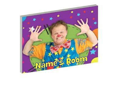 Mr Tumble Personalised Wooden Door Plaque