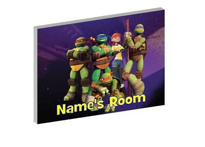 Tnmt Teenage Mutant Ninja Turtles Wooden Door Plaque