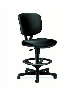 HON Volt Task Stool - Leather Office Stool for Standing Desk Black (H5705)