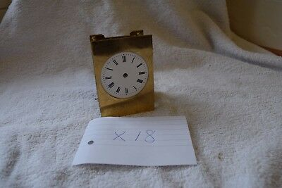 antique french carriage clock  movement and enamel dial