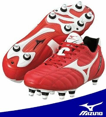 MIZUNO Rugby Shoes MIZUNO SAMURAI SPEED Red x White 14KR220 New With Tracking