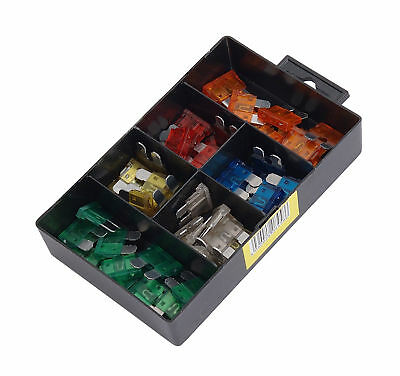 50pc Assortment Box of Car Vehicle Auto Fuses