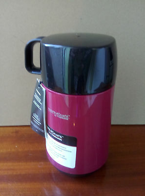 1L Litre Hot Cold Food Flask Camping Lunch Glass Lined Insulated Vacuum Thermos