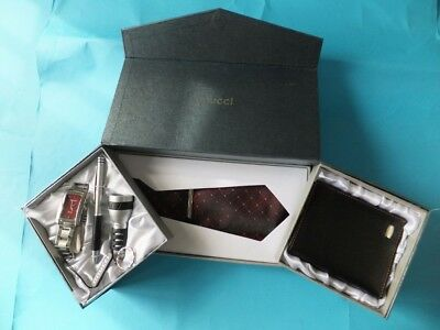 Anucci Collection Watch Tie Wallet Torch Pen Set Boxed Mens Gift Set