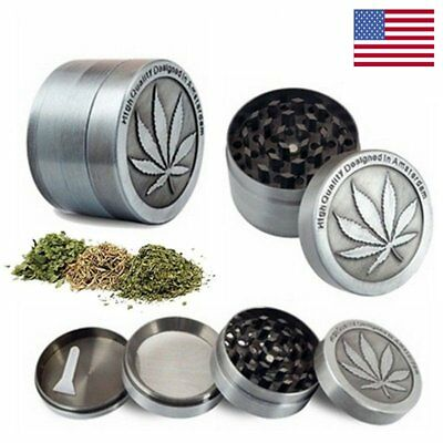 4 Piece Tobacco Herb Grinder Spice Herb Weeds Mill Zinc Alloy Smoke Hand Crusher