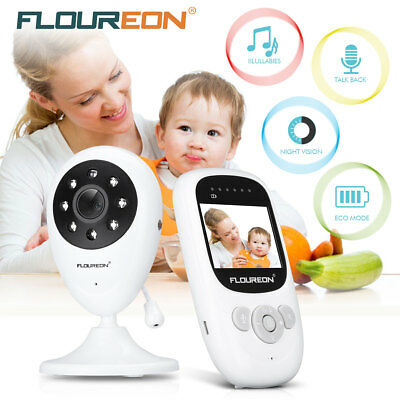 Wireless 2-Way Baby Monitor LCD Video Babyfone Babyviewer Kamera IR Nachtlicht