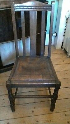 Solid Oak Chair Beautiful Petina Vintage