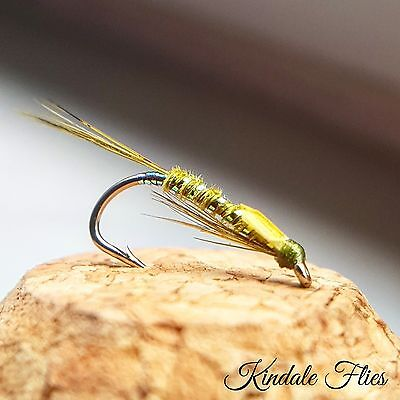 Olive Diawl Bach size 12 (Set of 3) Fly Fishing Buzzers Flies