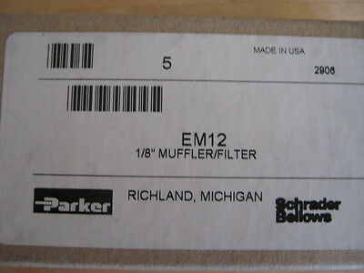 "Lot of 5 Parker EM12 1/8"" MUFFLER/ FILTER"