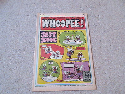 WHOOPEE COMIC No 4, March 31st 1974- very good condition-/Beano, Whizzer & Chips