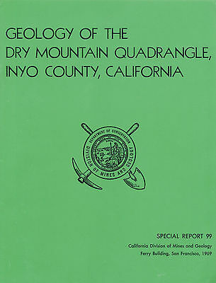 Death Valley, Saline Valley, Inyo County, Calif, Dry Mtn, MINING, BIG sep. map !
