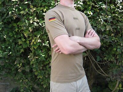 German Army Tan Desert T shirt Sand T-shirt Short Sleeve Military Surplus