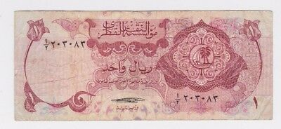Qatar1 Riyal QATAR MONETARY AGENCY Sign al Thani 1973 P1