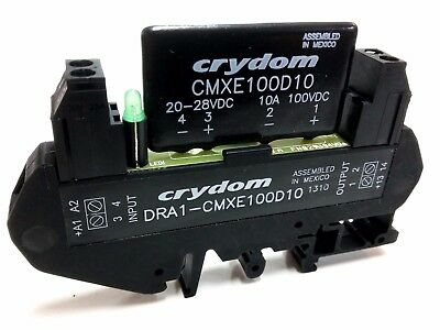 Crydom DRA1-CMXE100D10 Solid State Relay 10A/100VDC control 20-28VDC 10mm