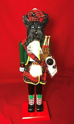 Scottie Dog Wood Nutcracker New with Tags 18 inches Tall