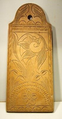 Old Norwegian Decorative Wooden Carved Bread Board