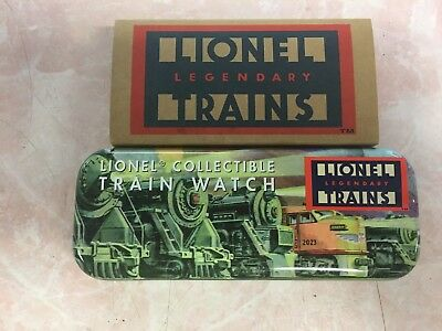 NEW in Tin  LIONEL  Collectible Train Watch W/  Sound & Movement  needs Battery
