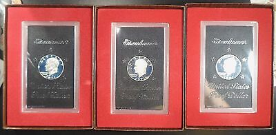 1971-S Brown Box Deep Cameo High Grade Silver Proof Eisenhower Dollars