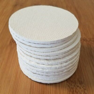12 Cellulose filter discs mushroom cultivation growing 70mm REGULAR MOUTH