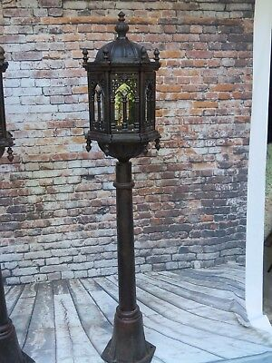 5' Foot Cast Iron Gothic Styled Ornate Indoor/outdoor Street Light Lamp Post