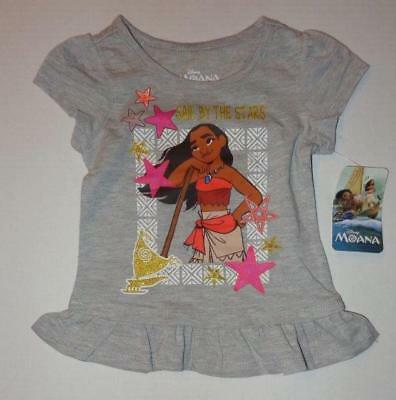 MOANA Toddler Girls 2 2T 3 3T 4 4T Short Sleeve Tee SHIRT Top Disney