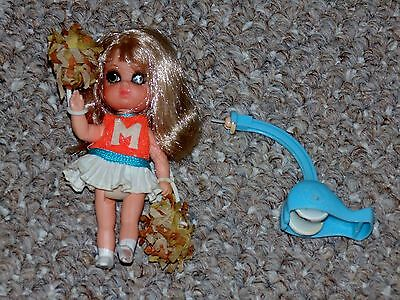 1968 Mattel Liddle Kiddles Rah Rah Skediddle Doll Near Complete (# 3768)