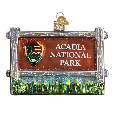 """Acadia National Park"" (36190) Old World Christmas Glass Ornament w/OWC Box"