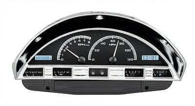 1956 Ford F100 Truck  Dakota Digital Black Alloy & White METRIC VHX Gauge Kit