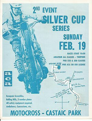 1967 - 2nd Silver Cup - Motocross Castaic Park - ACA - Motorcycle Event Flyer