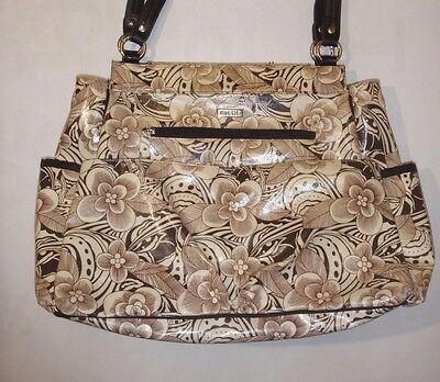 Miche prima Lucy Diaper bag brown floral bag shell and changing pad shell only