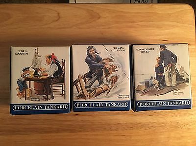 3 Norman Rockwell Seafarers Collection Mugs