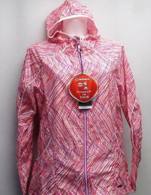 New Ladies SMALL Sunice Lucy X20 Unlined Water repellent Golf Hooded Wind Jacket