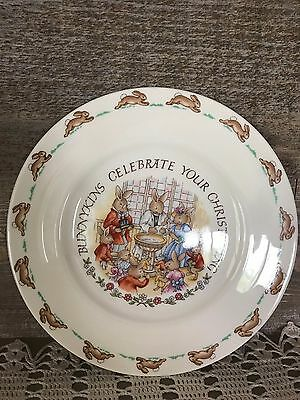 Bunnykins Celebrate Your Christening Plate Made in England