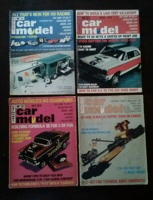 Car Model Magazine Lot (4)  February April July 1970 , August 1971