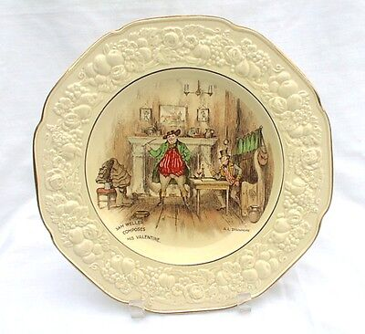 Crown Ducal Stanmore Wall Plate Sam Weller Composes His Valentine 1920s Antique
