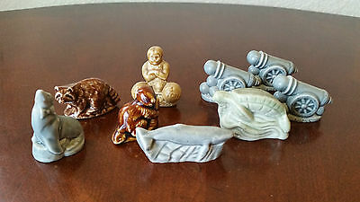Vintage Mixed Lot 9  Wade Figurines Red Rose Tea England