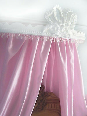 Antique French bed ciel de lit half tester bed canopy shabby chic Chateau style