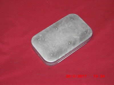 Rare Hardy Alloy Salmon Fly Box & Contents . Rare Holdtite Clips.
