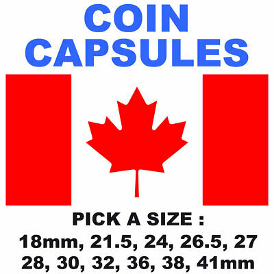 Canada Coin Capsules - Pick A Size - Crystal Clear