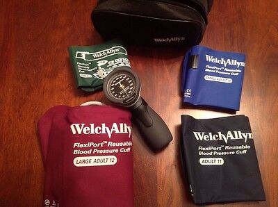 Welch Allyn Trigger Aneroid Blood Pressure 5098-30 w/4 Cuff Kit DS66 NIB